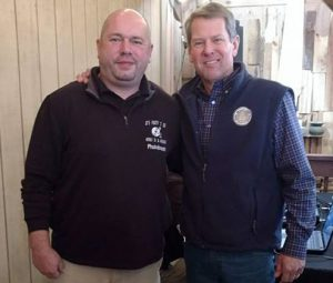 Jason and Governor Brian Kemp